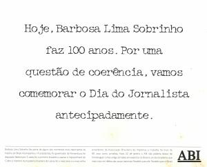 Anuncio-jornal-100-anos-300x242 Associação Brasileira de Imprensa – ABI, um caso especial